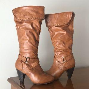 """Yoki """"Sylvia"""" Heeled Slouchy Boots"""